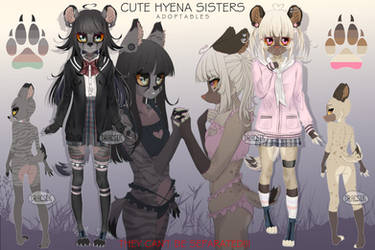 Cute Hyena Sisters Adoptables [CLOSED] by Dracsik