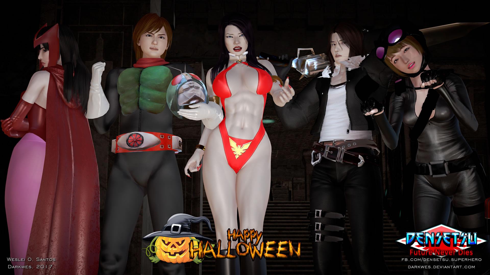 Densetsu Halloween 2017 by darkwes