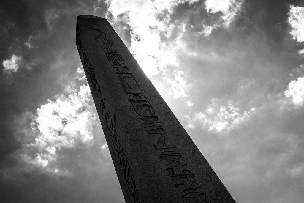 The Obelisk Of Theodosius BW by JapeKing