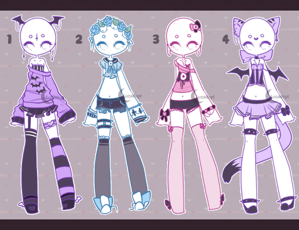 Deviantart Outfit Adopts