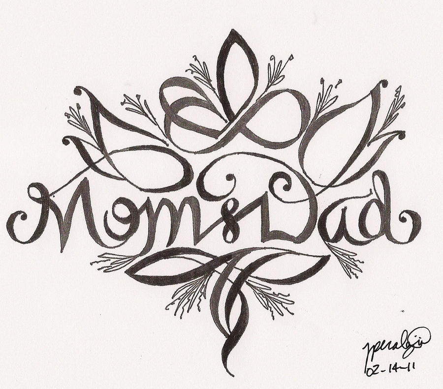 Valentine 39 s day mom and dad by rper782786 on deviantart for Valentine s day tattoos