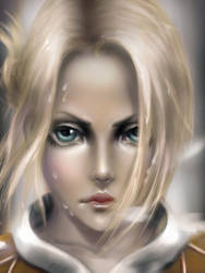 Annie-portrait (Attack on titan) by chryssv