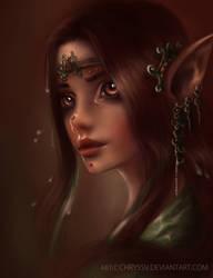 Wood elf by chryssv