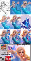 Elsa - Painting process