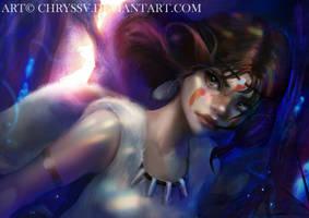 Princess Mononoke by chryssv
