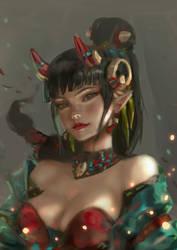Demon Priestess by chryssv