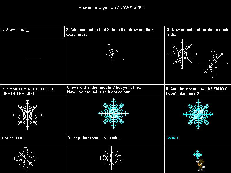 How To Draw Snowflake EASY by RavTheHedgehog on DeviantArt