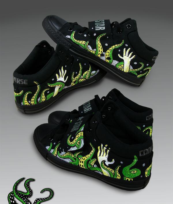 Custom shoes - Tentacles by surfender