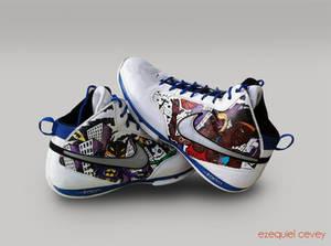 Custom shoes - Batman Rodman Wallace