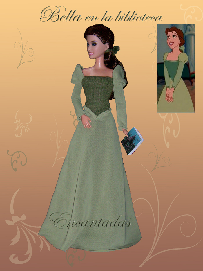 BELLE Beauty And Beast Green Dress By Encantadas