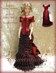Age of Innocence - Red Victorian Dress