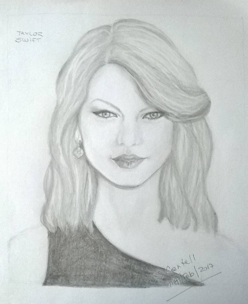 Taylor swift pencil drawing by encantadas on deviantart