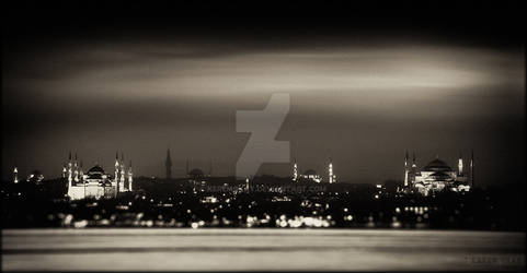 Silhouette Of Istanbul.