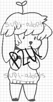 P2U pixel deer kid lines by Supi-adopts