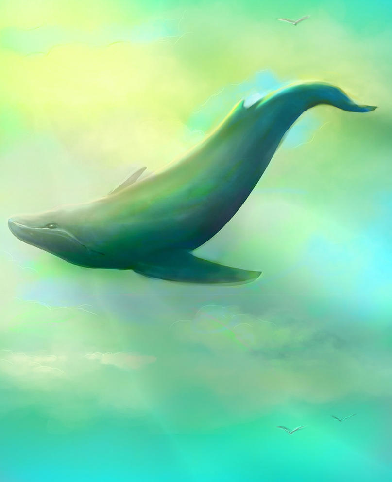 Flight of the Whale by kaber13