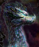 Elemental Lightningshard Dragon by kaber13