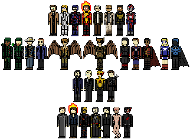 Heroes And Villains By Shadows