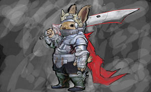 Bunny Knight WIP by J4sonH4n