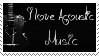 I love acoustic music stamp by BrunaLH