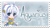 Zodiac Aquarius Stamp by BrunaLH