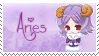 Zodiac Aries Stamp by Nanaiko