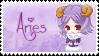 Zodiac Aries Stamp by Nanaiko