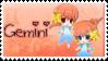 Zodiac Gemini Stamp by Nanaiko