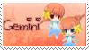 Zodiac Gemini Stamp by BrunaLH