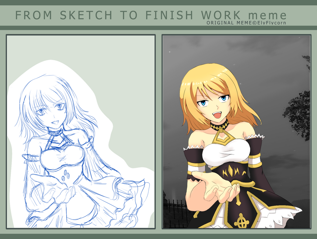 how to finish a sketch