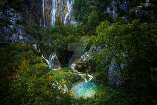 Waterfall Plitvice Croatia