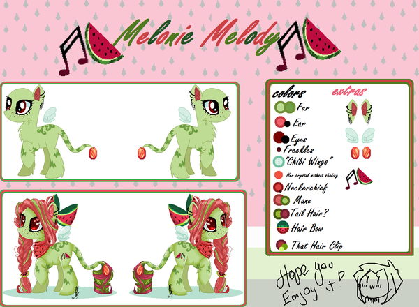 - Melonie's info - by Flying-Hamburgers26