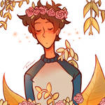 Lance with Plants