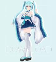 TDA Kimono Miku [Close Download] by 0oSoulSistero0