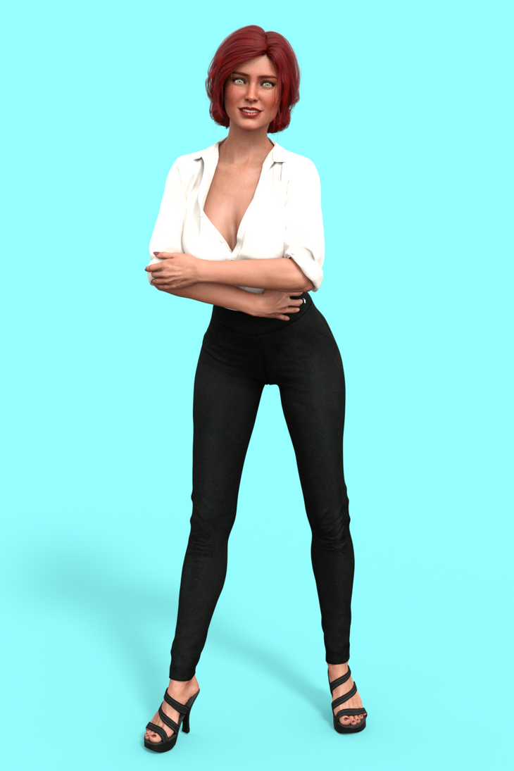 Triss Merigold in regular clothes by marcelojavier83