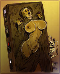 Leia in Carbonite by grenadeh