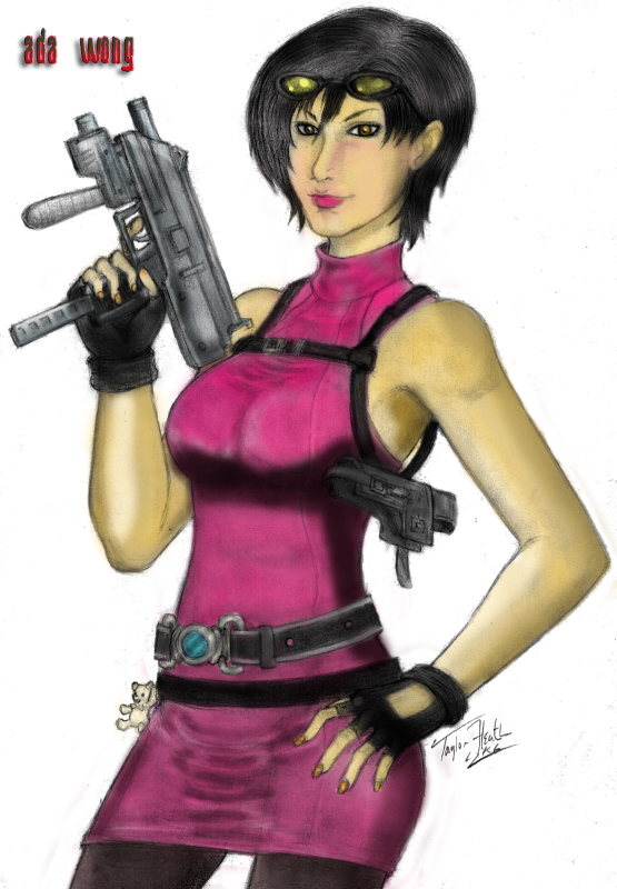 ada wong coloring pages - photo#33