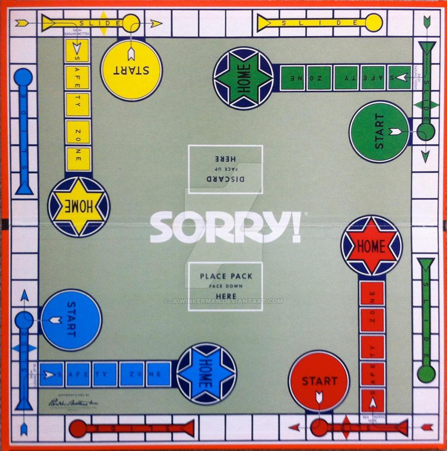 Sorry Game Board 1970s By Jdwinkerman On Deviantart