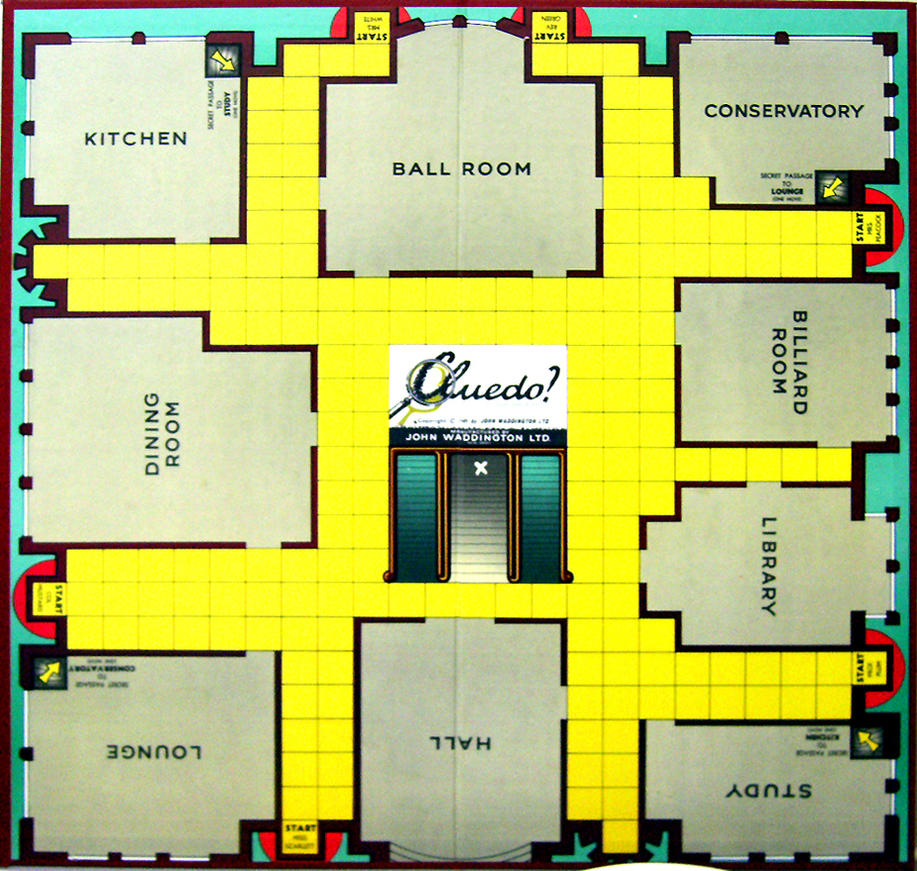 Clue Game Board 1965 Cluedo by JDWinkerman on DeviantArt