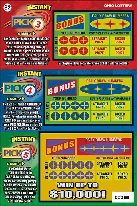 Ohio Lottery Instant Pick 3 Pick 4 Pick 5 By Jdwinkerman On Deviantart