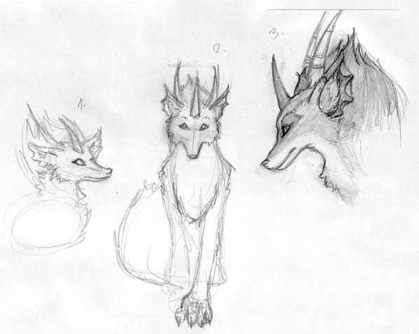 Dracowolf sketches by cat270