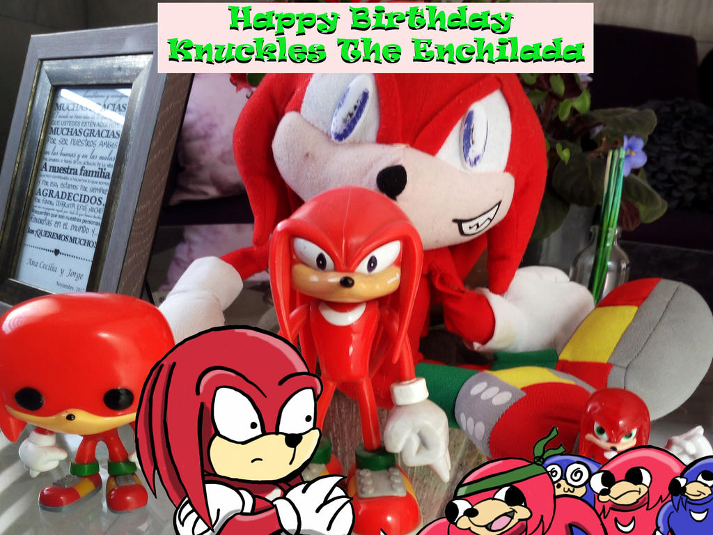 Knuckles the Enchilada Birthday!!! by AngelokTheChubbyBat on