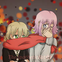 scarf sharing by TheApatheticKat