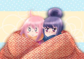 (Yuru Camp) Big Blanket by TheApatheticKat
