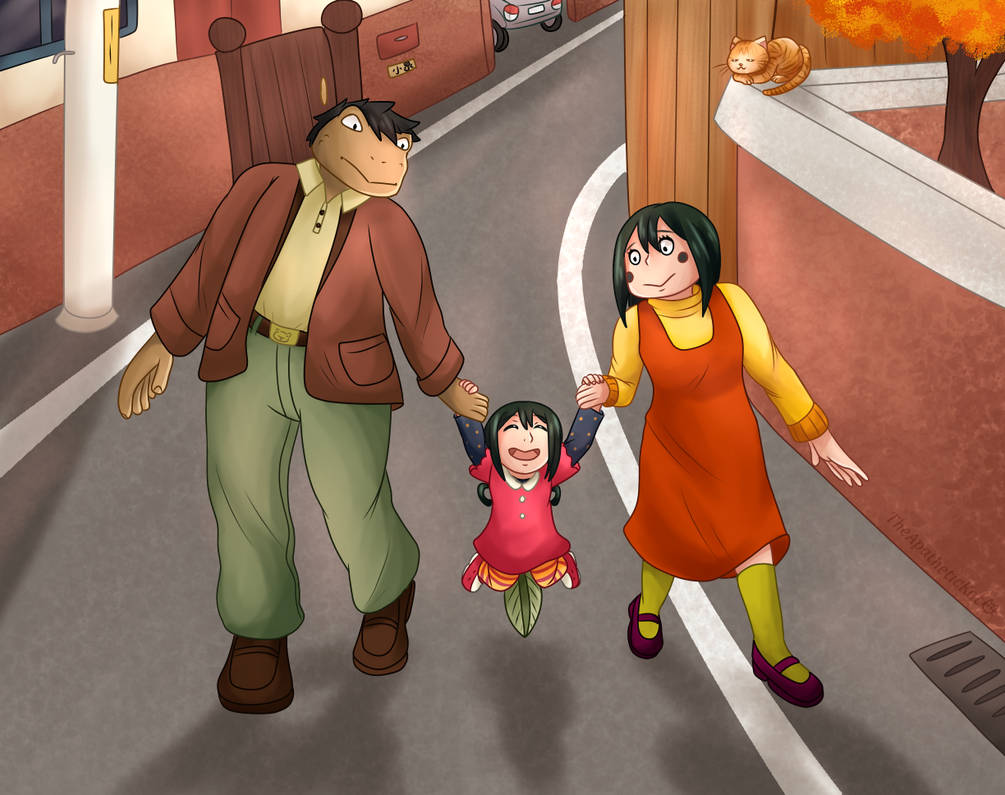 Little Tsuyu and her Parents