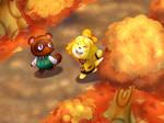 Isabelle and Tom Nook