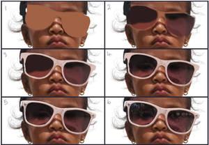 layer breakdown of hyperrealism study