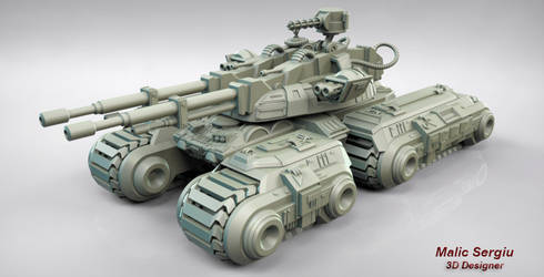 Command And Conquer Mammoth Tank 3d Model by cilams