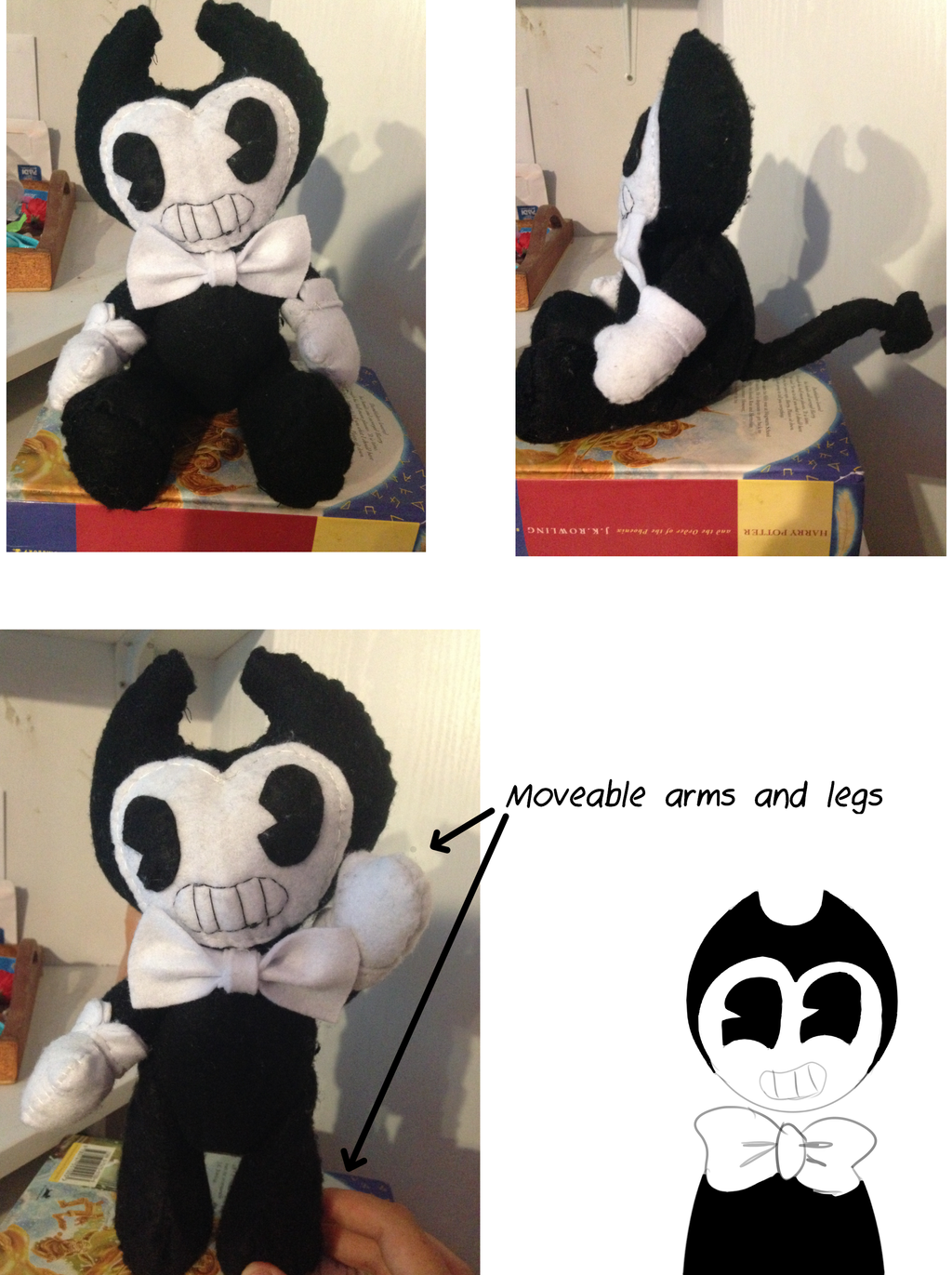 Bendy Plushie by Tisha2302 on DeviantArt