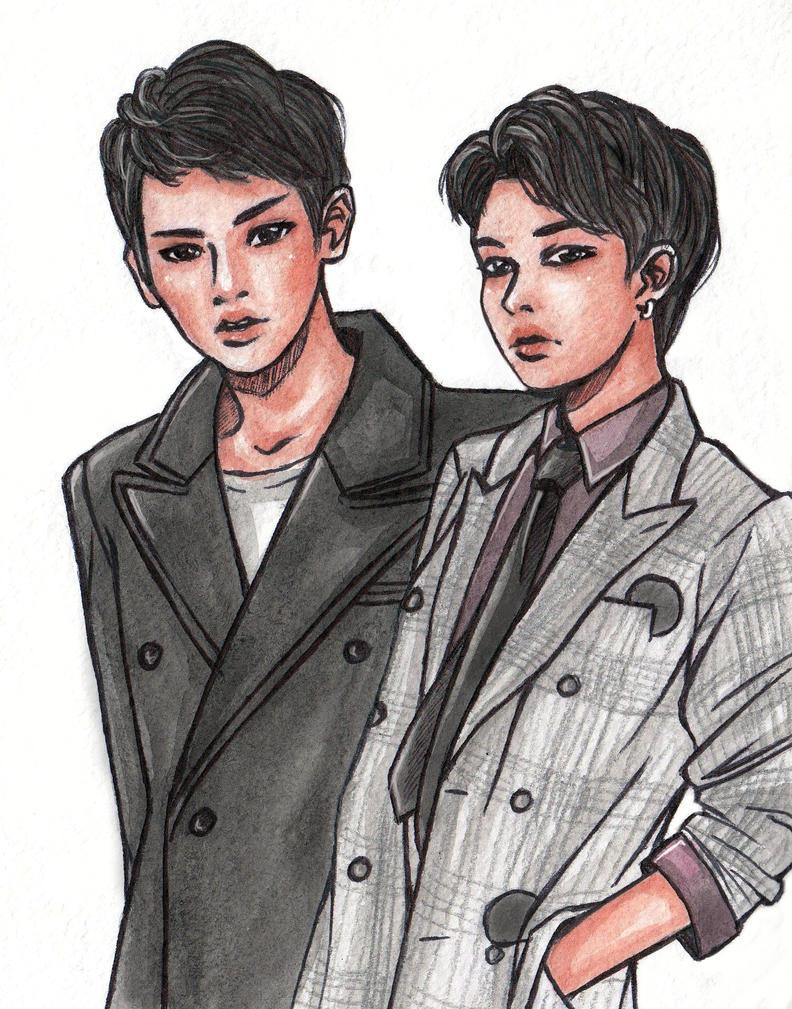 BAP Himchan Youngjae by NodameR on DeviantArt  BAP Himchan You...