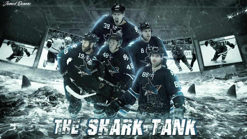 San Jose Sharks Wallpaper By Burstingdesigns